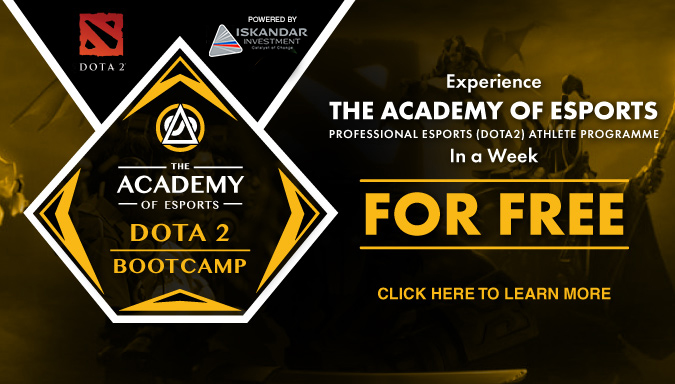 promotion banner about the dota2 bootcamp 2017