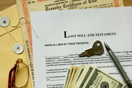 Photo of legal documents and cash