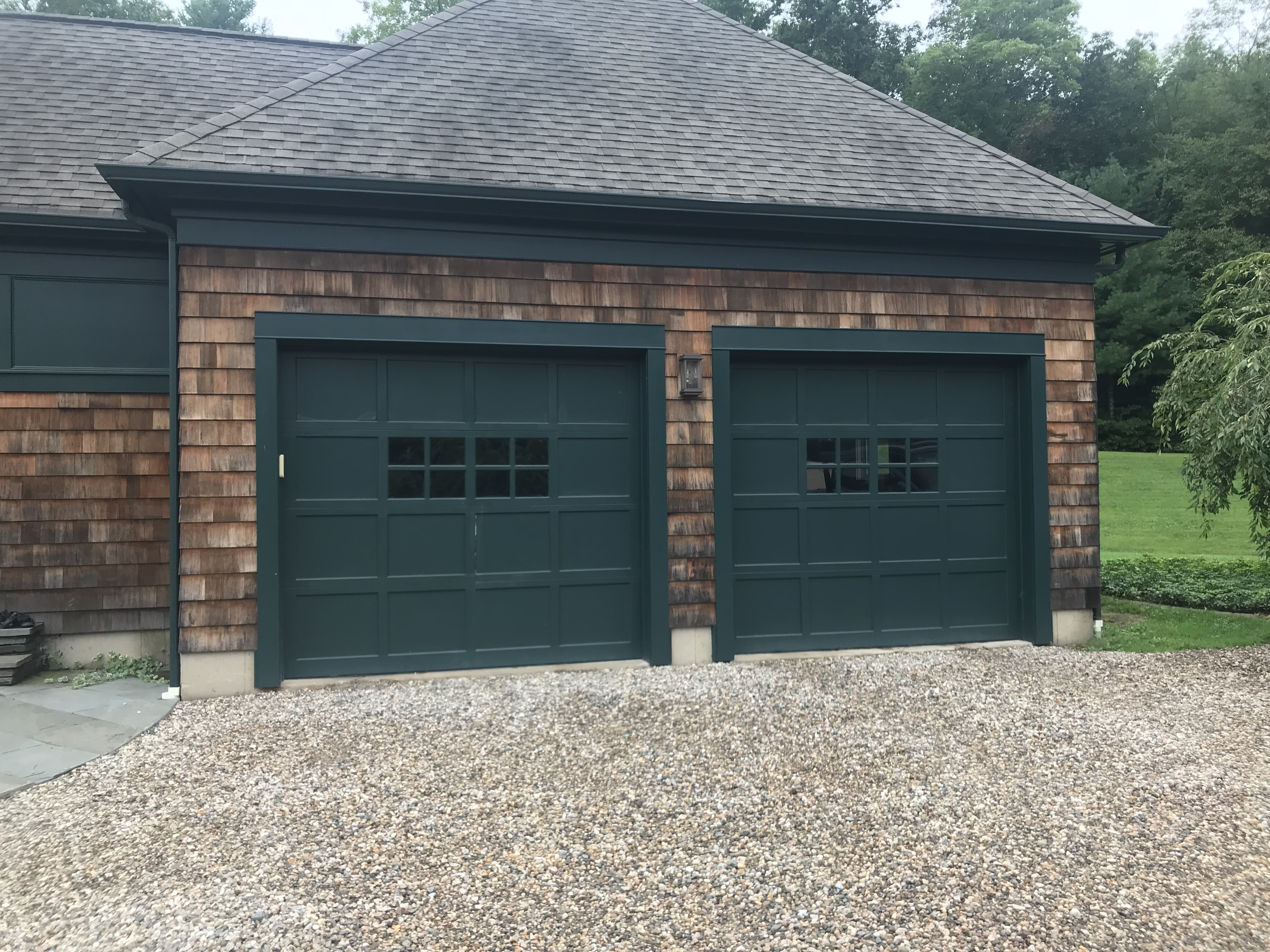 Your garage doors should complement the rest of your home and work well