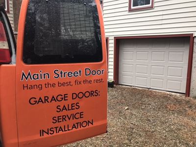 Main Street Door will show up in a company van