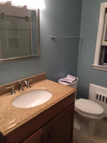 Photograph of a bathroom remodeled by Colite Construction Company
