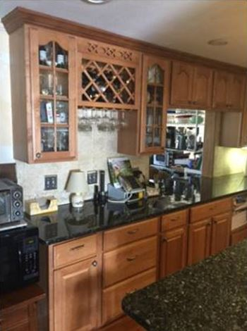 Colite Construction installs cabinets and counters in many designs and colors