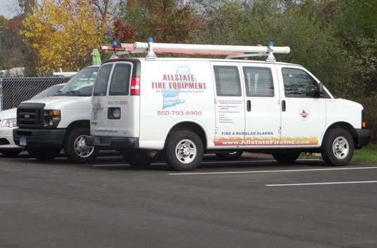 The experts at Allstate Fire Equpment have their own service vehicles