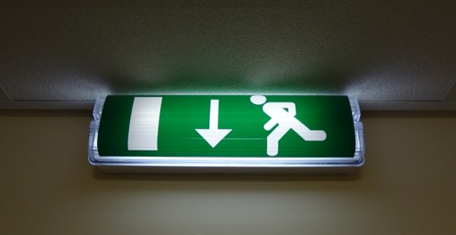 Emergency light for stairway