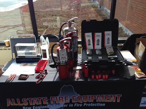Some of the fire protection equipment on display at the CT Fire Marshals 2018 Convention