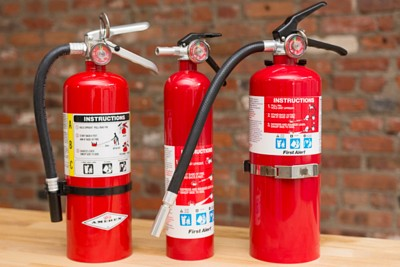 Photo of portable fire extinguishers