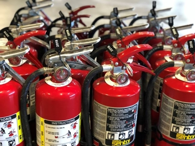 Fire extinguishers up to code