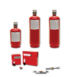 Components of the AMEREX automatic dry chemical fire suppressant system