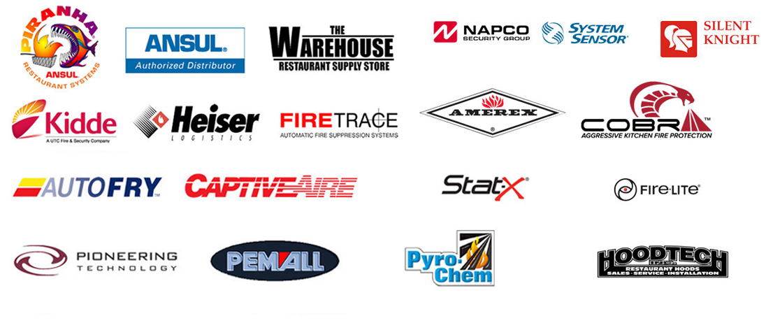 We partner with many leading fire protection manufacturers