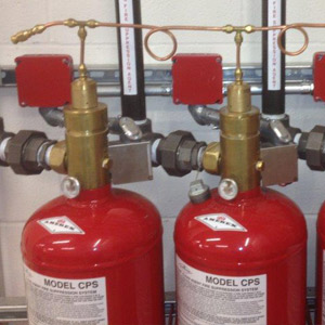 Tanks of clean agent fire suppressant