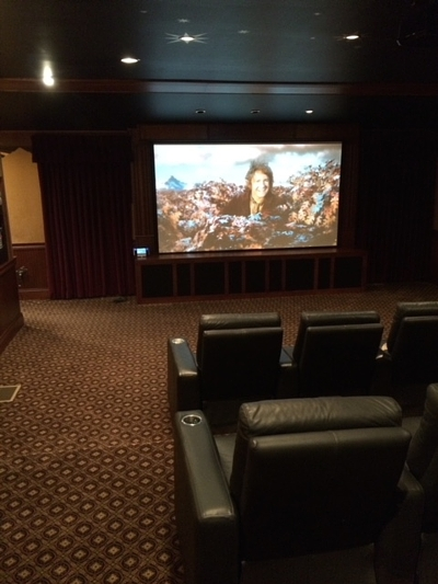 We have experience designing and installing home theaters