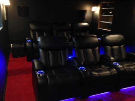 An electrician can give you the lighting you need for a home theater