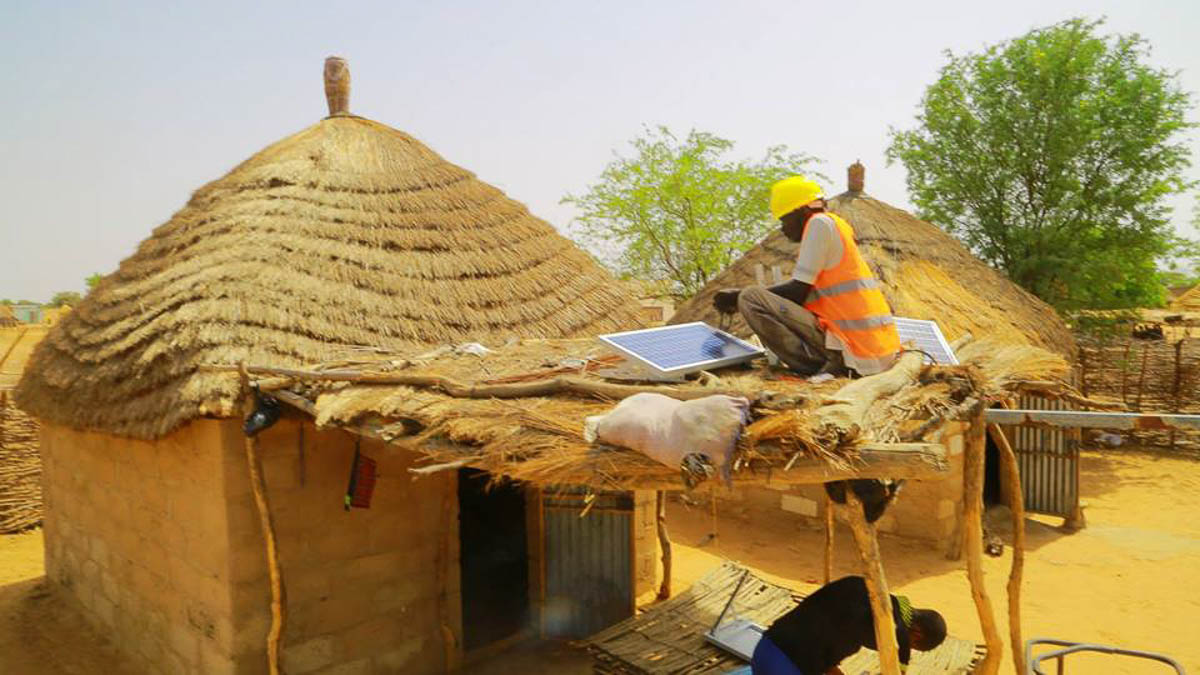 The house with solar roof Senegal