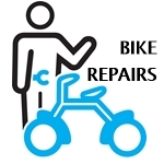 Bicycle repairs on the premises at Renaissance Cyclery