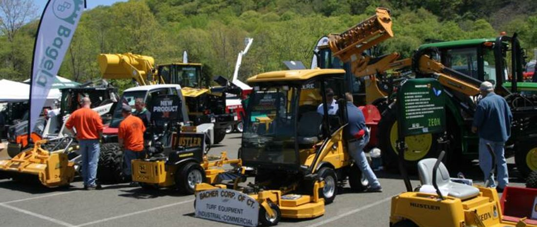 Some turf equipment on display at a previous CASHO equipment show