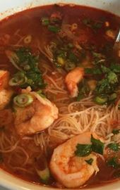 Hot, delicious soups and noodle dishes served at Lotus Grill, Farmington, CT