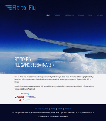 Foto Landing Page Fit to Fly
