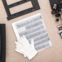 professional negatives and gloves
