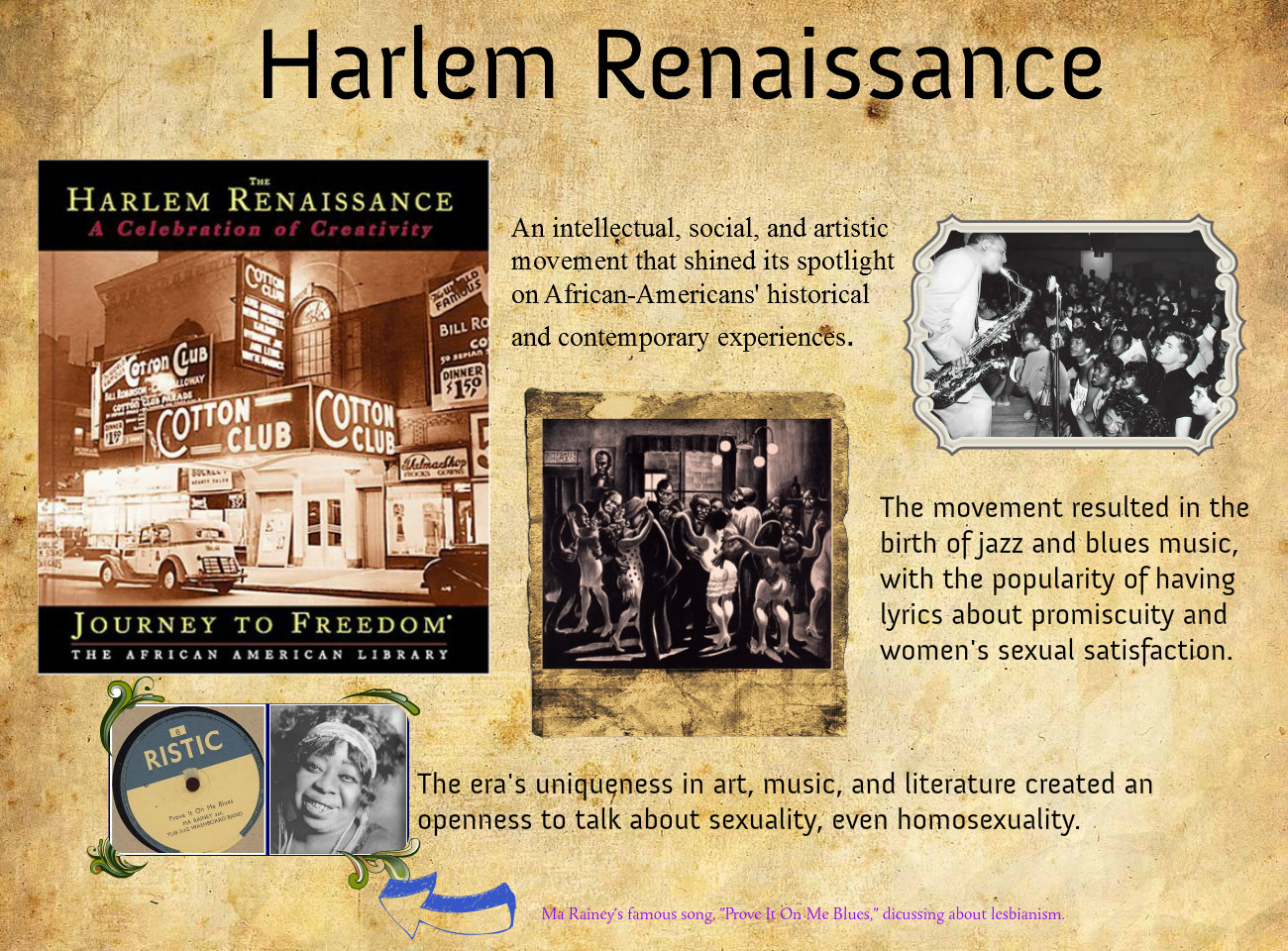 an overview of the harlem renaissance as an african american cultural movement of the 1920s Many scholars think of the harlem renaissance as the moment african american literature first came into its own: a rebirth of literature as an african american space which was a pretty major deal, especially when you consider that the 1920s weren't so long after slavery was abolished.