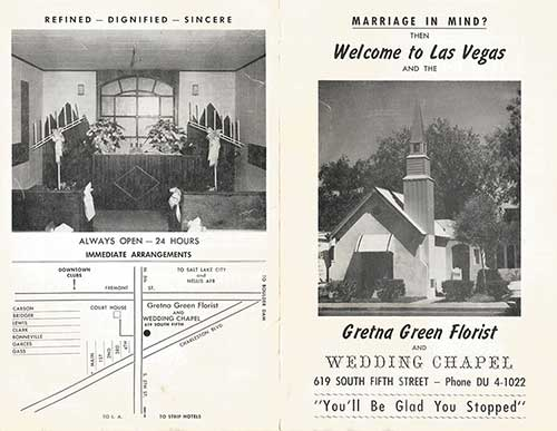 Gretna Green Wedding Chapel Brochure - Front