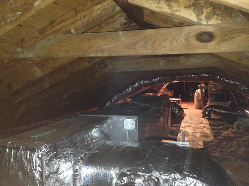AC duct work in CT by Home Comfort Heating & Cooling Solutions LLC