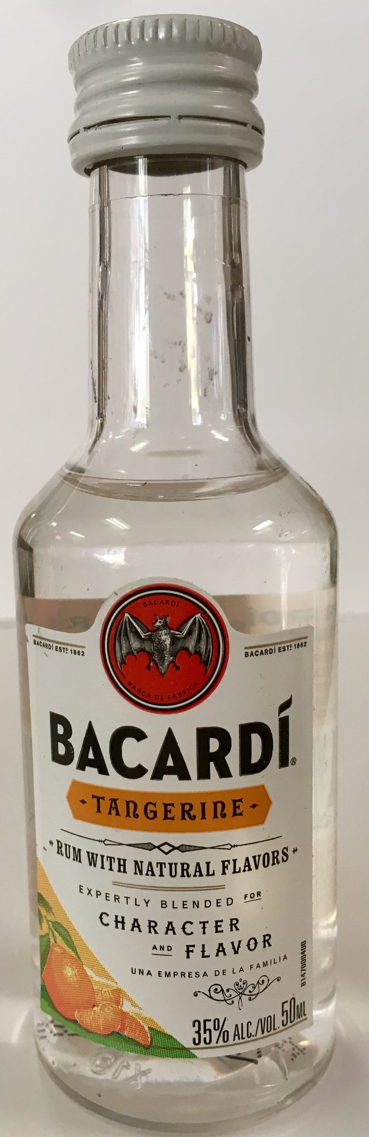 Mini bottle Bacardi Puerto Rican Rum