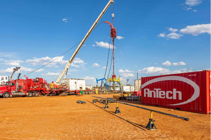 Figure 1: AnTech's COLT BHA and workshop container, on site in Australia.  ​