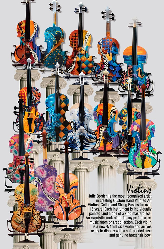 Violins For Sale Colorful