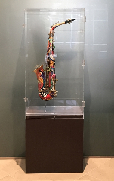 Hand Painted Saxophone Display Case Juleez