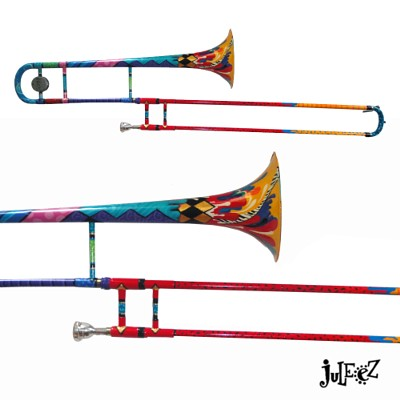 Juleez Colorful Trombone Musical Instrument Trombone Art