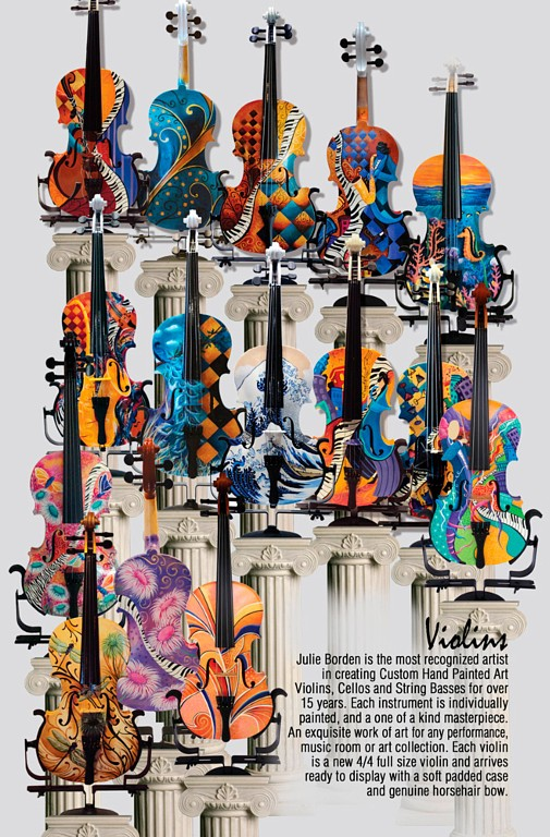 Full size violins for sale 4/4 violin colorful art Juleez