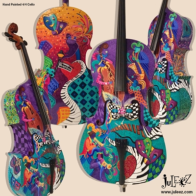 Colorful Jazz Cello for sale Juleez Musical Instruments