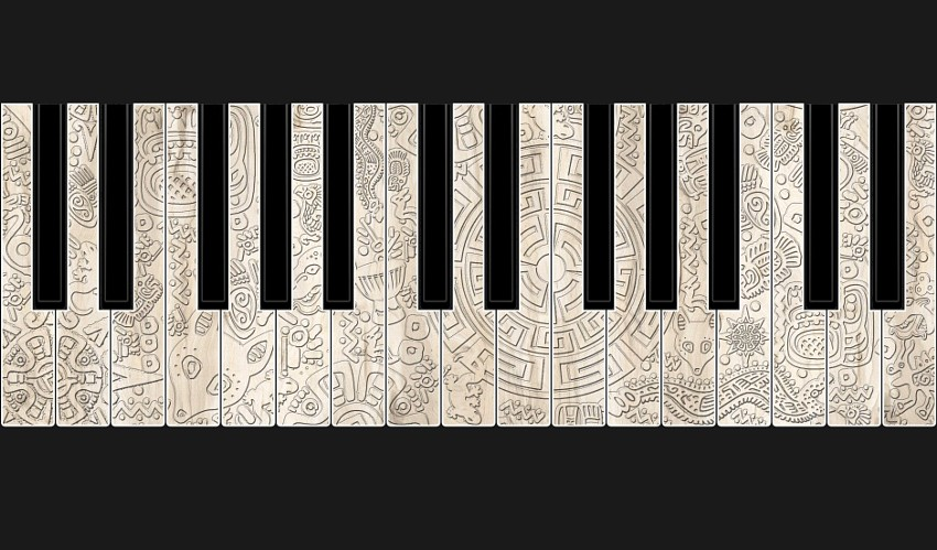 Printed Piano Keyboard Graphics by Juleez