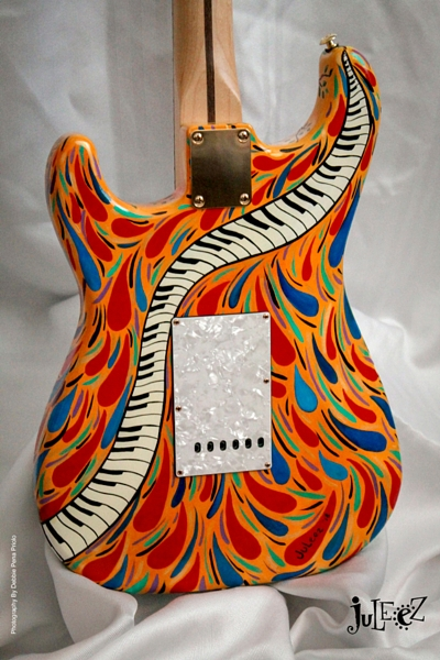 custom painted guitars stratocasters acoustic. Black Bedroom Furniture Sets. Home Design Ideas