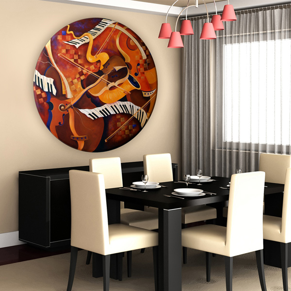 Musical instrument wall art  jazz  juleez