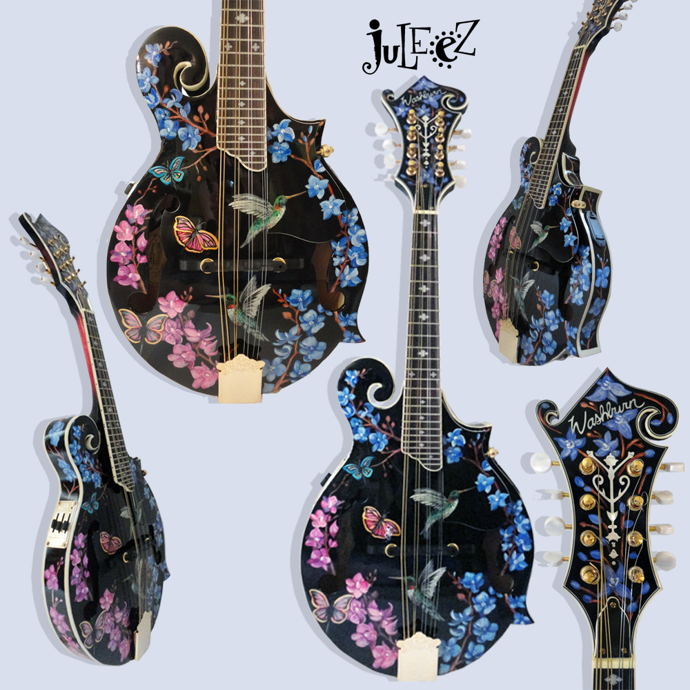 Custom Painted Mandolin by Juleez
