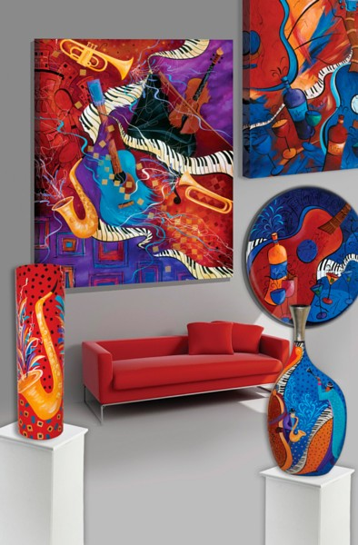 Music wall art wall paintings decor by Juleez