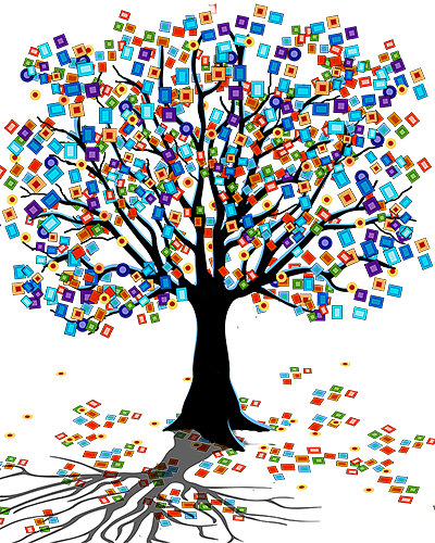 Colorful tree by juleez