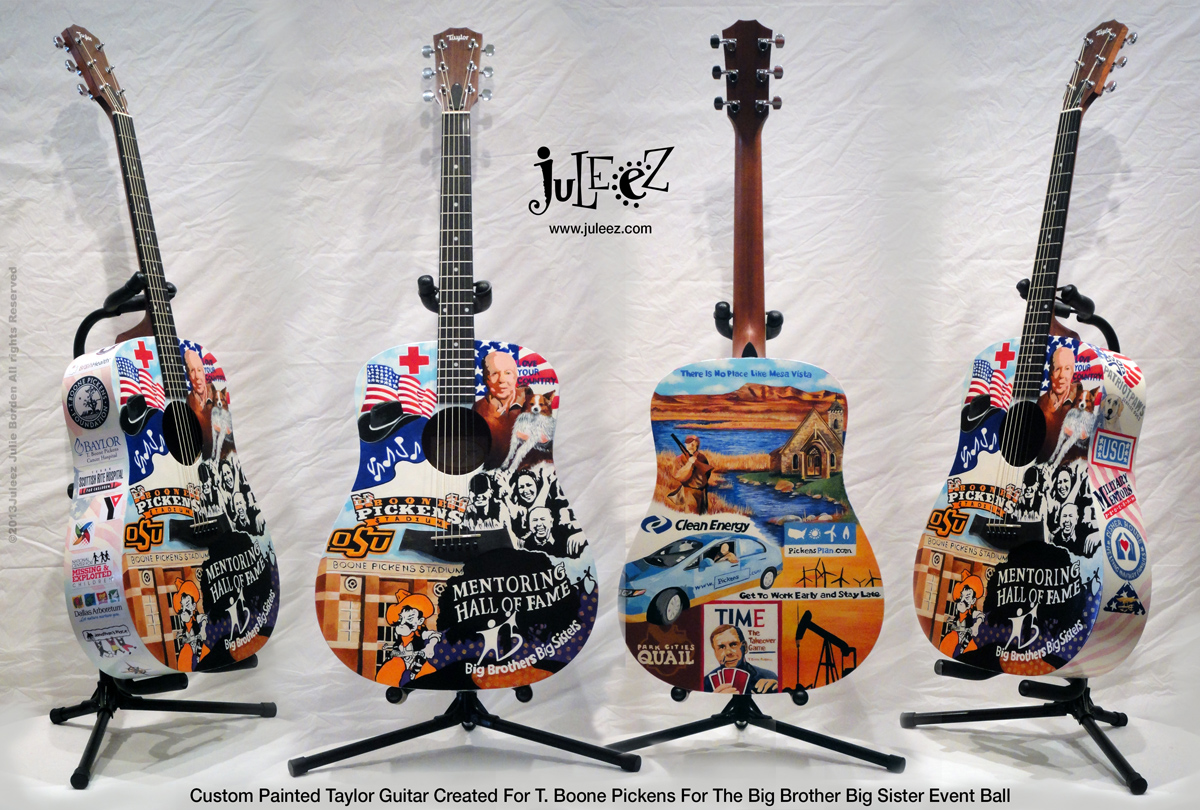 Juleez Custom Painted Taylor Acoustic Guitar