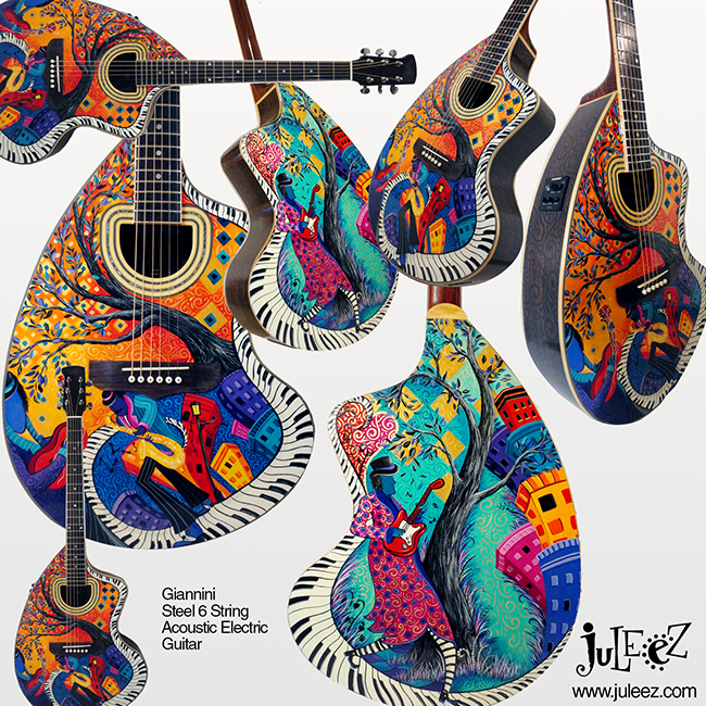 Painted Giannini Guitar by Juleez