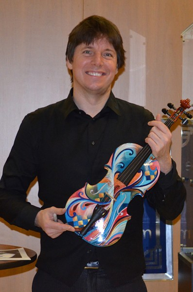 Joshua Bell with Juleez Hand Painted Violin