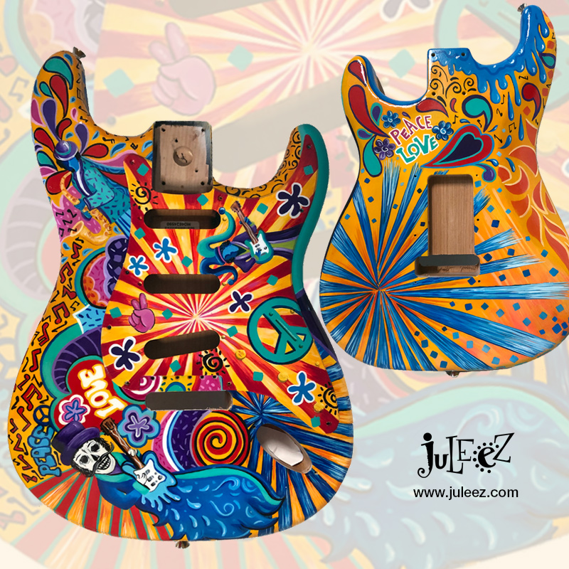 Juleez Painted Fender Strat Guitar