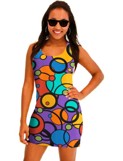 Juleez Custom Colorful Art Print Dress