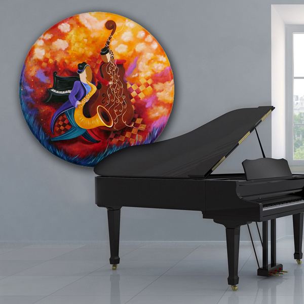 Juleez Sax piano jazz painting wall art