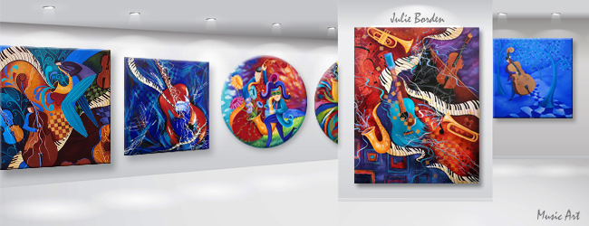 Juleez Music Art Canvas Wall Art Jazz Art