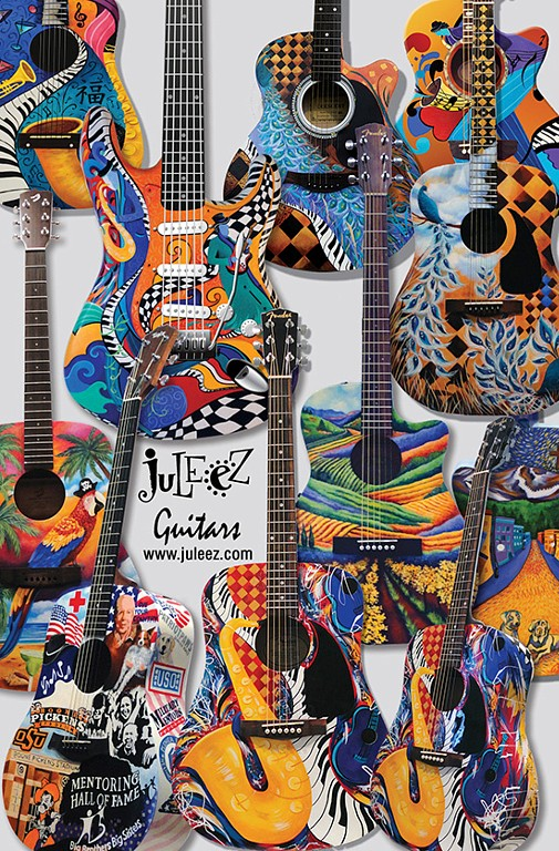 Hand Painted Acoustic Guitars Custom Guitar by Juleez