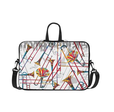 Trombone Print Laptop Bag