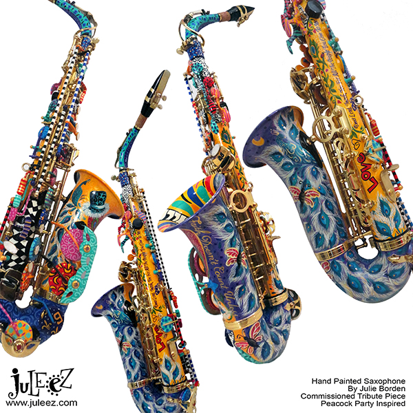 Juleez Colorful Peacock Saxophone Instrument