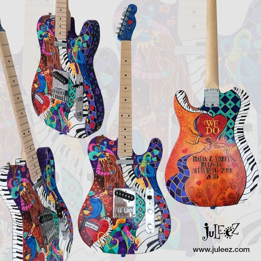 Custom Painted Fender Telecaster Guitar