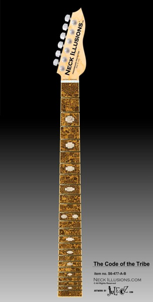 Guitar Decor Neck Illusions by Juleez